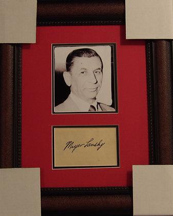 Meyer Lansky Autograph