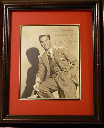 Errol Flynn autograph