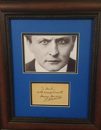 Harry Houdini autograph