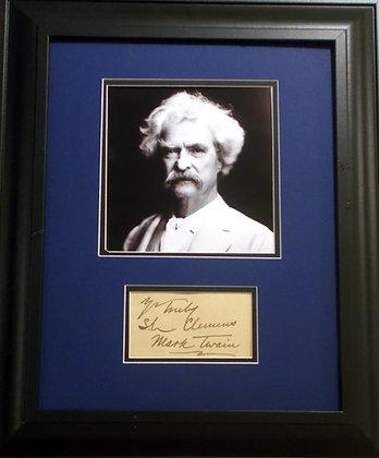 Samuel Clements, MarkTwain autograph