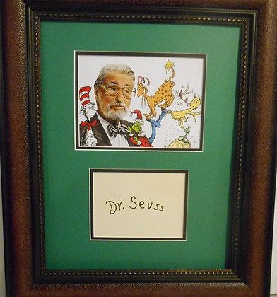 Dr. Seuss autograph