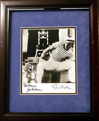 Gene Kelly, Bill Hanna, Joe Barbara autographed photo