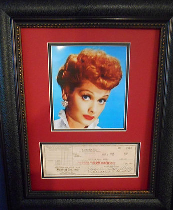 Lucille Ball Arnaz Personal Check