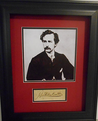 John Wilkes Booth Autograph