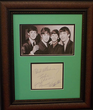 Beatles autographs cut
