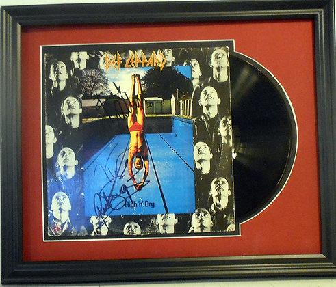 Def Leppard autographed LP
