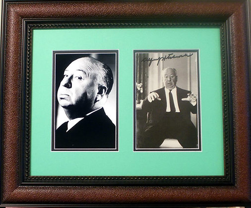 Alfred Hitchcock autograph photo