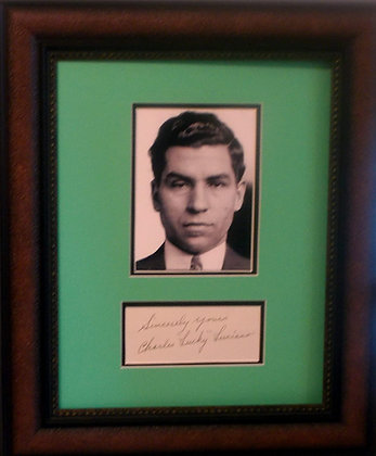 """Charles """"lucky' Luciano autograph"""