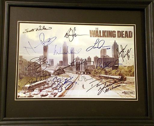 Walking Dead Cast autographed photo