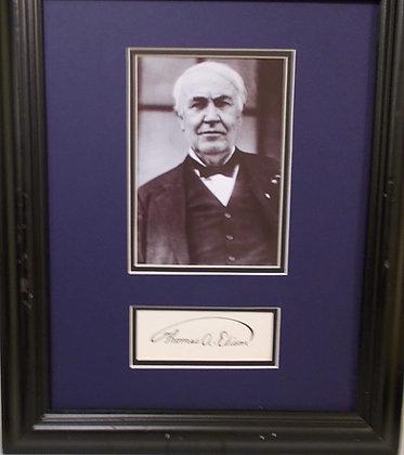 Thomas A. Edison autograph