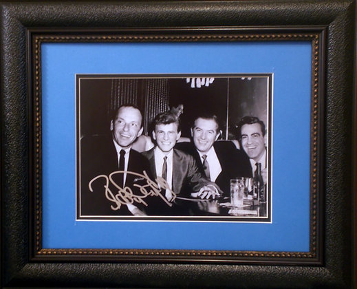 Bobby Rydell autograph photo with Sinatra