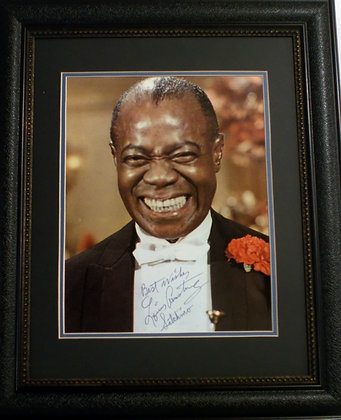 """Louis 'Satchmo"""" Armstrong autographed photo"""