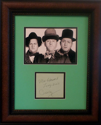 Three Stooges autographs