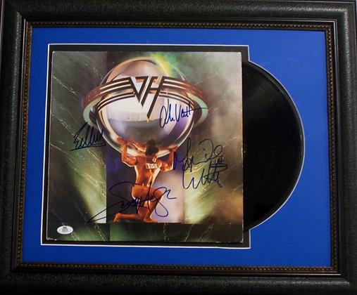Van Halen authographed album cover