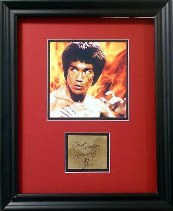 Bruce Lee autographed cut