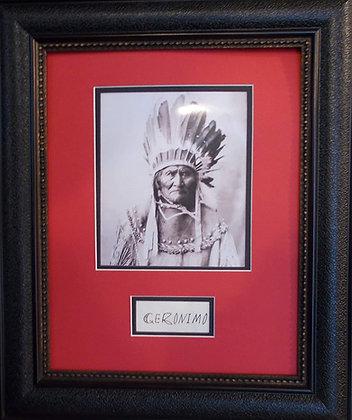 Geronimo autograph