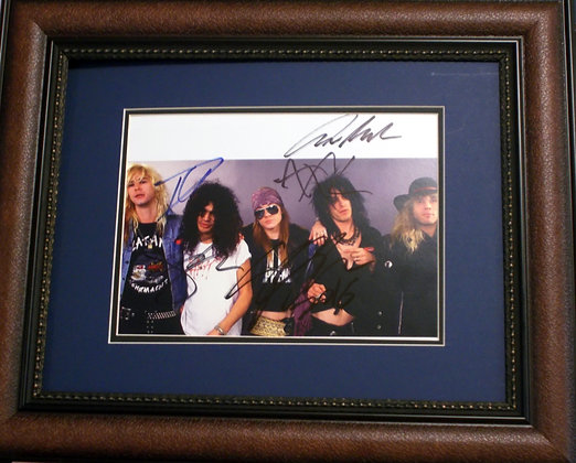 Guns N' Roses autographed photo