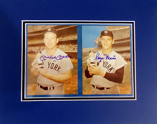 Mantle and Maris autograph photo