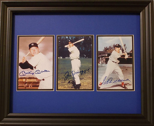 Mickey Mantle, Ted Williams & Joe DiMaggio Autographed photos