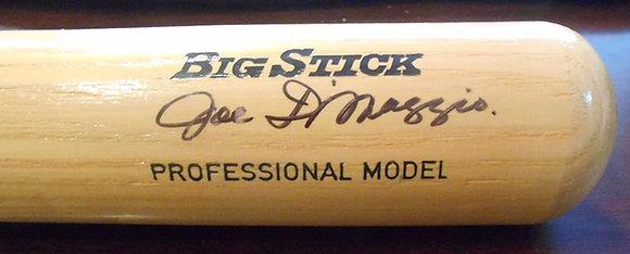 Joe DiMaggio autographed bat