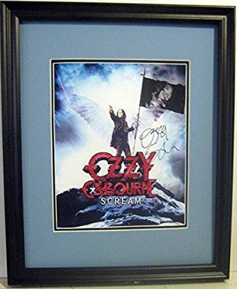 Ozzy Osbourne autographed photo