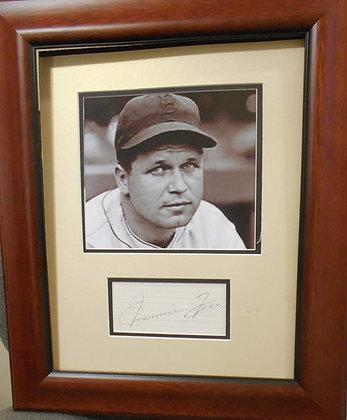 Jimmy Foxx autograph