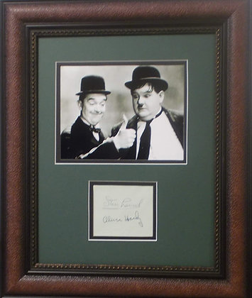 Stan Laurel and Oliver Hardy autographs