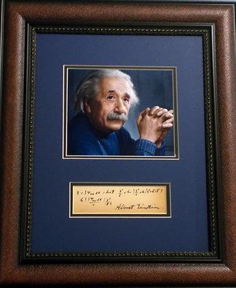 Albert Einstein autograph and formula