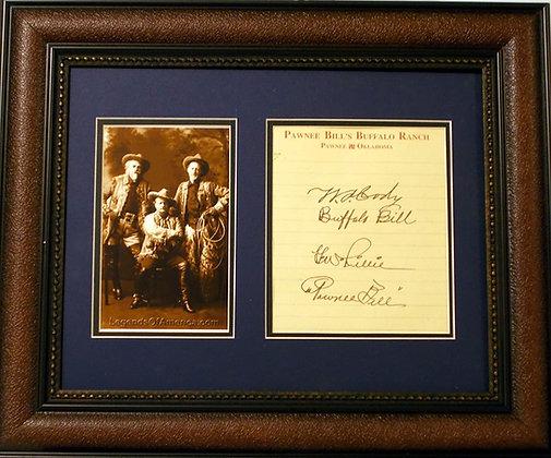 Buffalo Bill and Pawnee Bill autographs