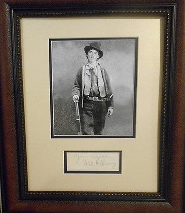 William H. 'Billy the Kid' Bonney autograph cut