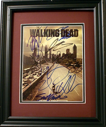 Walking Dead Cast autographed photo