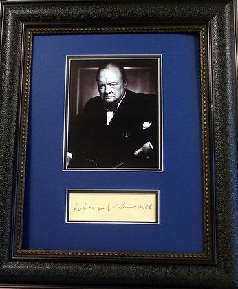 Winston Chruchill autograph