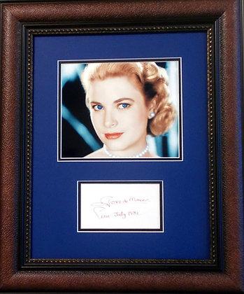 Grace (Kelly) de Monaco autograph
