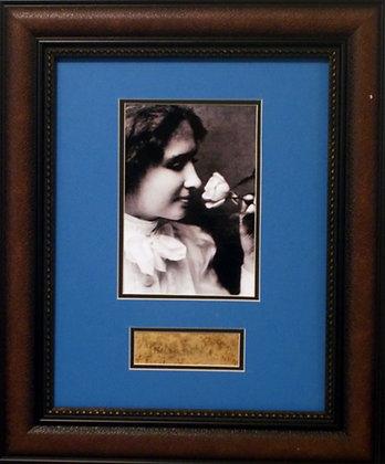 Helen Keller autograph