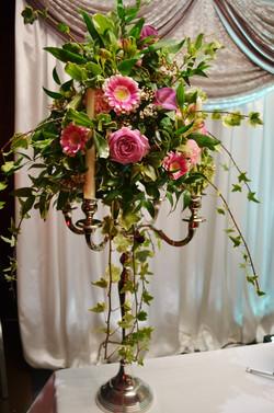 Candelabra Flowers Centepiece