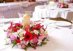 Hurricane Vase Flower Centrepiece