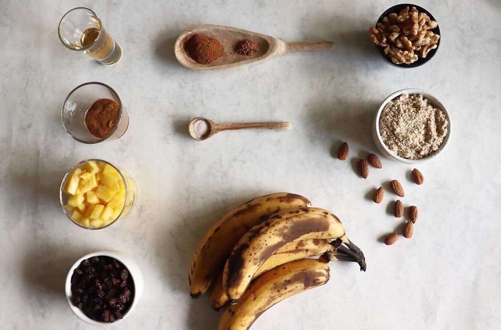plant-based banana cake ingredients