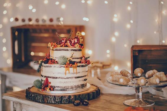 Svatební dort se sweetbarem a kremrolemi