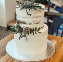 Svatební dort - naháč s olivovým zdobením