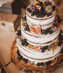 Dort na oslavu s ovocem - ostružinami, fíky a borůvkami