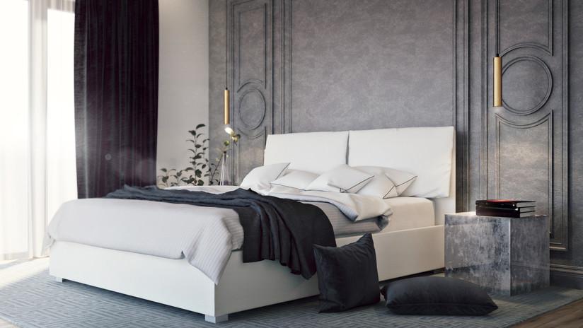 Dark Grey Room Airbnb