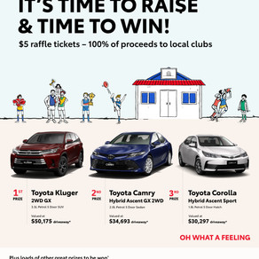 Toyota Good for Footy raffles are back!