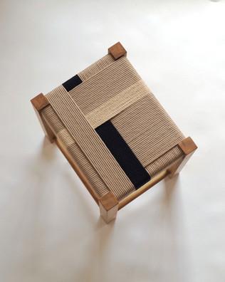 Sand-Black-Parchment-04-New-Oak-Stool-Jo