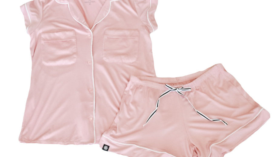 The McCarron original pajama set- Dusty Rose
