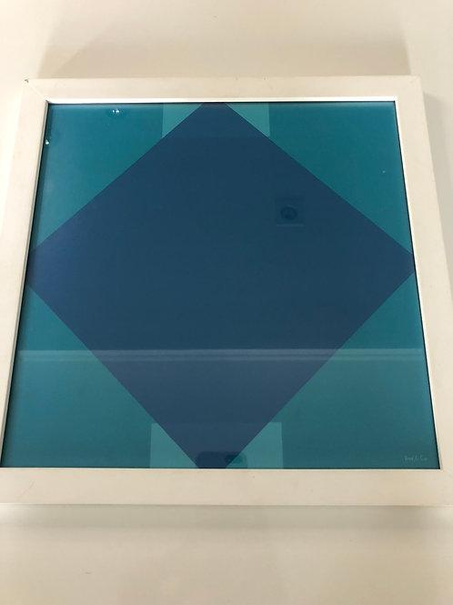Quadro quadrado com desenho geométrico - Print & Co