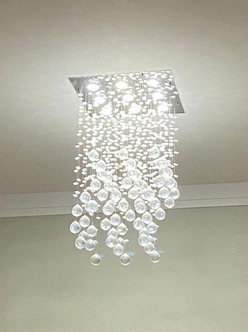 Lustre de cristal (9 lampadas dicroica MR 16/50W)