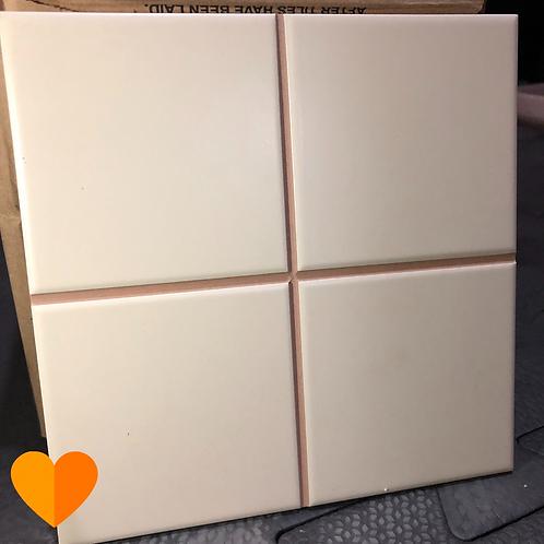 Quarter creme matte 19,5x19,5cm - Portinari (Disponibilidade: 11 Caixas)