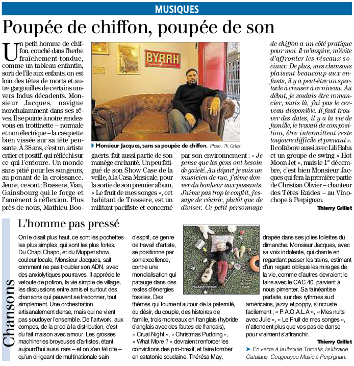 article album mr jacques indep decembre
