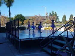 Young Inspire School of Ballet dancers ages 3 through 5 performing a tap number for our outdoor reci