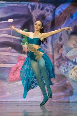 "Advanced Inspire School of Ballet dancer performing in ISB's ""The Little Mermaid"" show."